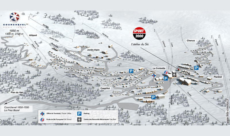 Plan de la station - Courchevel