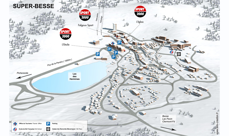 Plan de la station - Super Besse