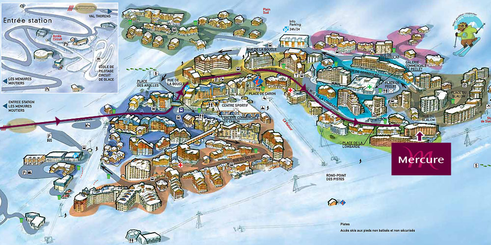Plan de la station - Val Thorens